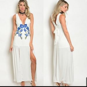 By M2 beautiful  floral print /wh full length